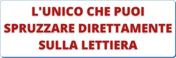 L'UNICO CHE PUOI SPRUZZARE DIRETTAMENTE SULLA LETTIERA